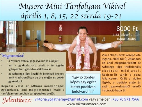 Mysore Mini tanfolyam
