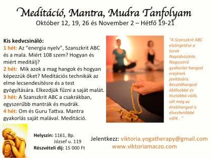 Meditacio Tanfolyam
