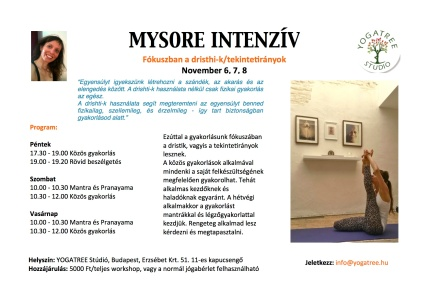 Mysore Intensive November_YT