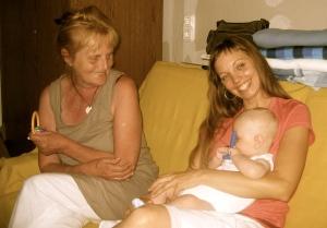 Barátnőm babájával és Édesanyámmal - egy újabb öröm pillanat